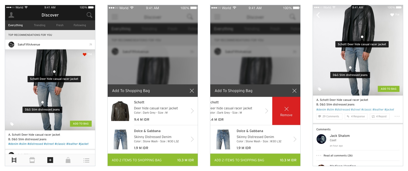 Hood Shopping User Experience and Interface Design